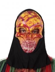 Skelet maske rød til voksne