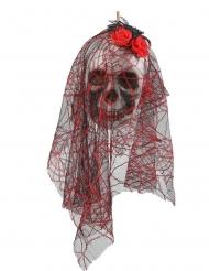 Hængende Dødningehoved Brudepige 15 x 30 cm