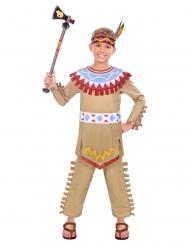 Indianer tipi kostume - dreng