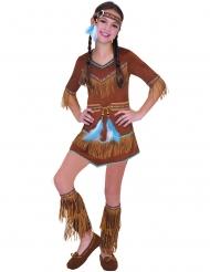 Drømmefanger indianer kostume - pige