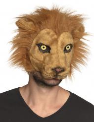 Løve maske plysstof - voksen