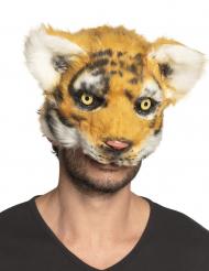 Tiger maske plysstof - voksen