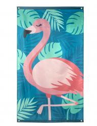 Stof flag tropisk flamingo 150 x 90 cm