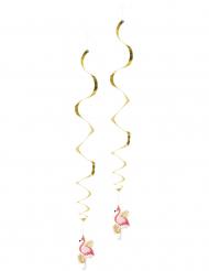 2 Ophæng Tropisk Flamingo 85 cm