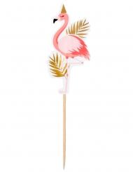 12 madpinde Tropisk Flamingo 13 cm