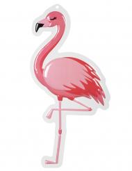 Vægdekoration i plastik flamingo 50 x 30 cm