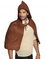 Middelalder kappe brun - voksen