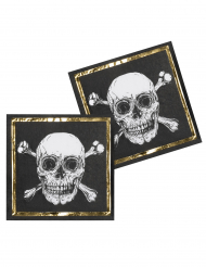 12 Papirservietter Pirate Jolly Roger 33 x 33 cm