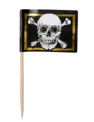 24 madpinde flag Pirate Jolly Roger 7 cm
