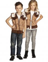 Western jakke lysebrun - Barn
