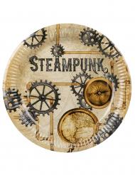 6 Paptallerkner Steampunk 23 cm