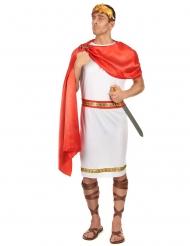 Romersk kejser kostume med krone stor størrelse - mand