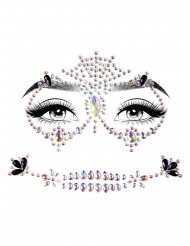 Ansigtssmykker flerfarvet - voksen
