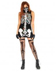 Dia de los muertos kjole med strømpeholder kvinde