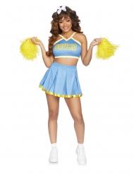 Luksus cheerleader kostume lyseblå - kvinde