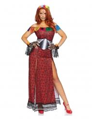 Luksus Dia de los Muertos kostume til kvinder