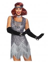 Luksus Charleston glitter kostume kvinde