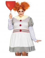 Luksus skræmmende klovne kostume stor størrelse - kvinde