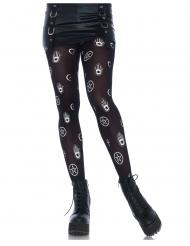 Strømpebukser  sorte med mytiske symboler kvinder