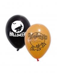 Latexballoner Halloween sort orange 30 cm