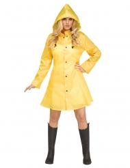 Regnfrakke gul til kvinder