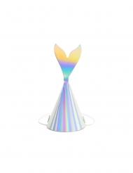 6 Festhatte havfrue hale holografisk 8 x 18 cm