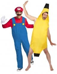 Parkostume Mario™ og banan voksen