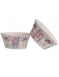 25 Cupcake forme Gurli Gris 5 x 3 cm
