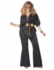 Blændende diskokostume stor størrelse - kvinde