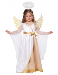 Lille engel kostume hvid og guld - pige