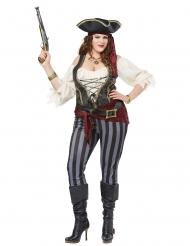 Pirat kostume stor størrelse - kvinde