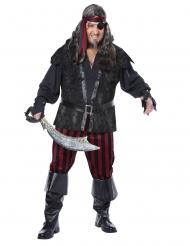 Ubarmhjertig pirat kostume stor størrelse - mand