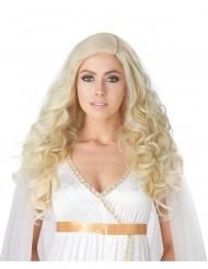 Luksus blond paryk med langt bølget hår - kvinde