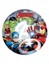 Spiselig kagedekoration disk Avengers™ 20 cm