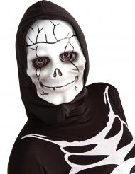 Skeletmaske med Hætte til børn