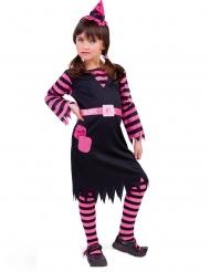 Hekse Kostume sort og lyserød til piger