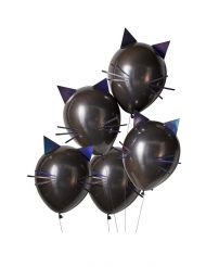 Latex balloner sorte katte 30 cm 5 stk