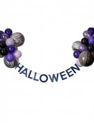 Guirlande sæt med sorte og lilla balloner