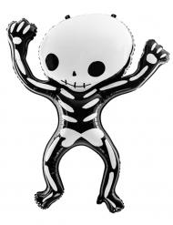 Aluminium Ballon Skelet sort hvid 84 x 10 cm
