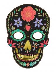 Dia de los muertos maske sort i pap 19 x 28 cm