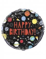 Ballon aluminium Happy Birthday rum 45 cm