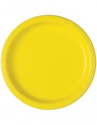 20 Små paptallerkner lys gul18 cm