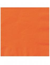 20 Små papirservietter Orange 25 x 25 cm