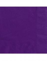 20 Papirservietter lilla 25 x 25 cm