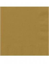 20 Små papirservietter guld 25 x 25 cm