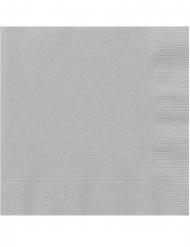 20 Små papirservietter sølv 25 x 25 cm