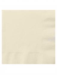20 Små papirservietter cremehvid 25 x 25 cm