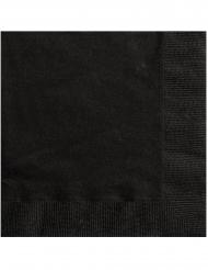 20 Små papirservietter sort 25 x 25 cm