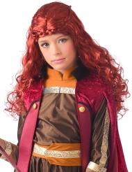 Vinter prinsesse paryk rød pige