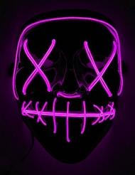 LED maske lilla til voksne